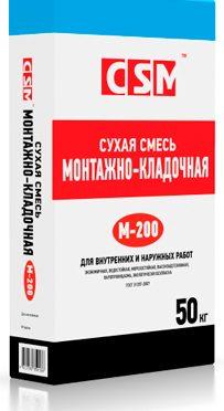 СМЕСЬ М-200 МОНТАЖНО-КЛАДОЧНАЯ